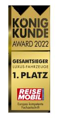 MORELO: Gesamtsieger König Kunde Award